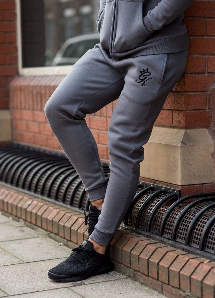 GK Tracksuit Bottoms - Steel Grey