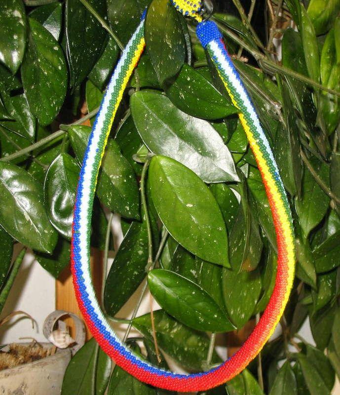 naszyjnik, koraliki toho 11,0, kolorowy, wesoły