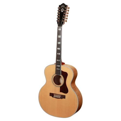 Guild USA F-512 Maple Jumbo 12 String  Acoustic Guitar Natural