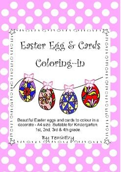 Easter Eggs and Cards Coloring In