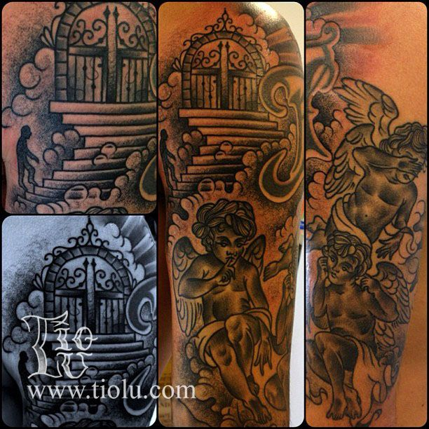 32 best images about pearly gates tattoo designs on for Tattoos of heaven