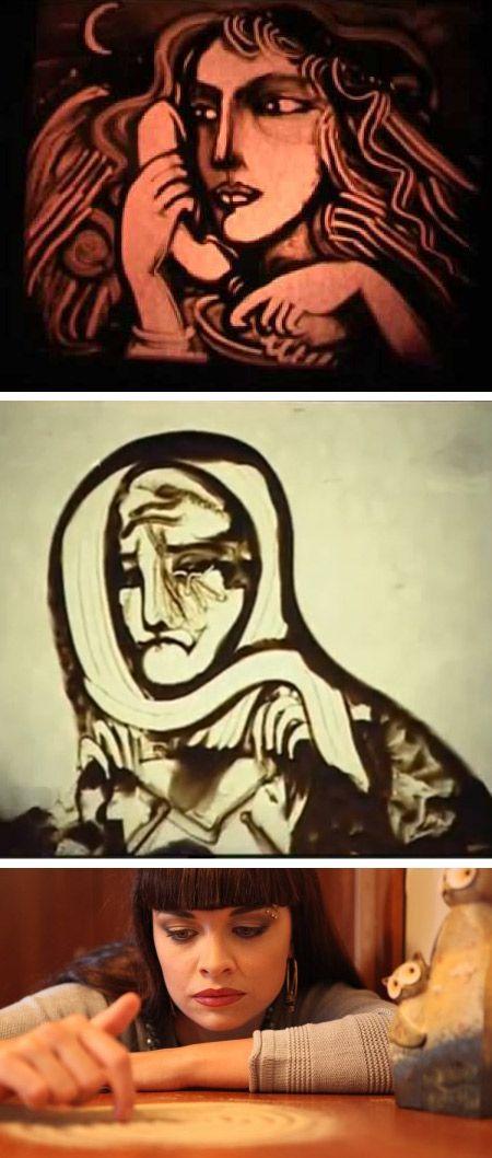 10 Amazing Sand Drawings - Oddee.com #sand #drawing #art