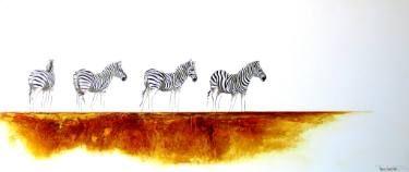 "Saatchi Art Artist Tracey Armstrong; Painting, ""Zebra Landscape"" #art"