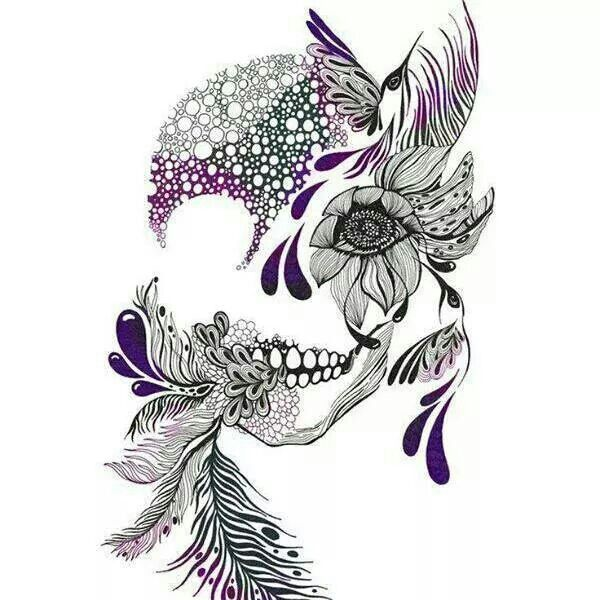 Perfect with peacock feathers