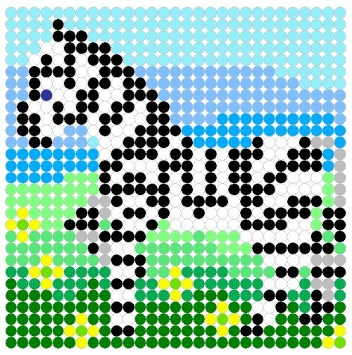 Zebra on the Plains Perler Bead Pattern