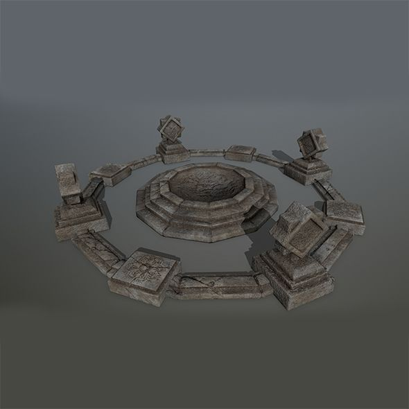 Old_Temple 2  Editable 3D model of a house  #3D #3DModel #3DDesign