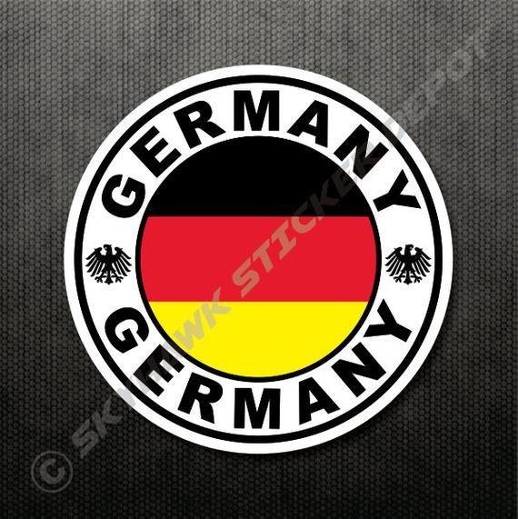 4 German Flag Sticker Vinyl Decal Germany Flag Sticker Macbook Air Sticker Car Truck Sticker Laptop Soccer Football Team Sticker Fit Bmw In 2020 Vinyl Decals German Flag Vinyl Bumper Stickers