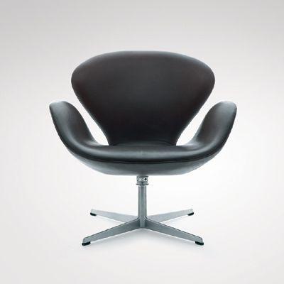 Poltrona Swan - A poltrona Swan foi desenhada por Arne Jacobsen, em 1958. Produzida em diversas cores e materiais, mas sua base sempre é de alumínio polido. Seu design serve para qualquer ambiente. Clique na imagem e acompanhe tendências e dicas de decoração!