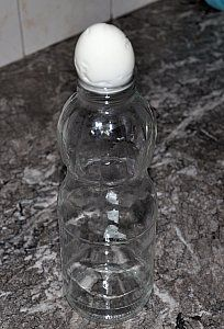 egg and bottle experiment - kids really enjoyed this