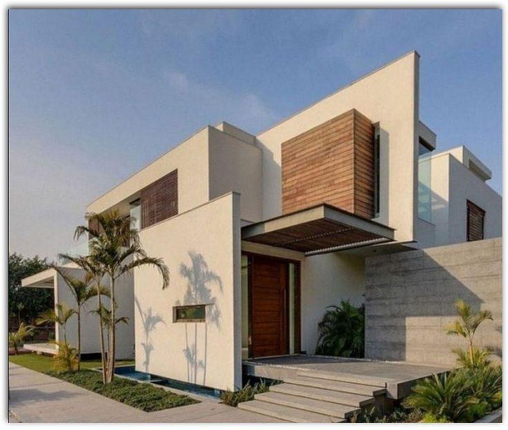 fachada-de-casa-con-entrada-lateral #casasminimalistasfachadasde #Modelosdecasas #casasminimalistasjaponesas