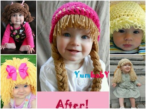 Knitting Pattern For Cabbage Patch Hat : Cabbage patch kids hats are so cute. Creativity ...