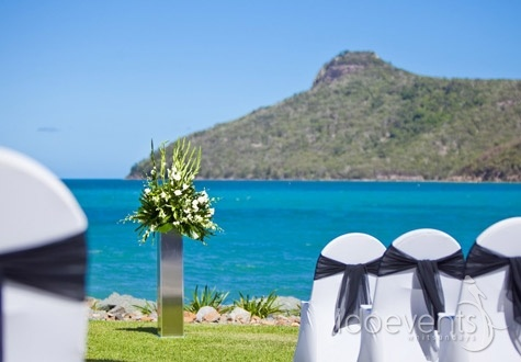 On the lawn at the Outrigger Function Centre on  Hamilton Island, the Whitsundays