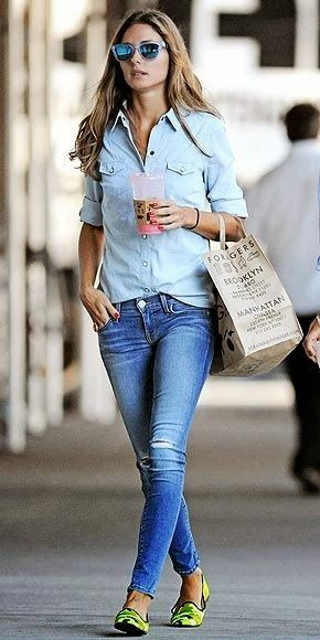 I love wearing denim on denim! Super easy to pull off when you have the right shades!