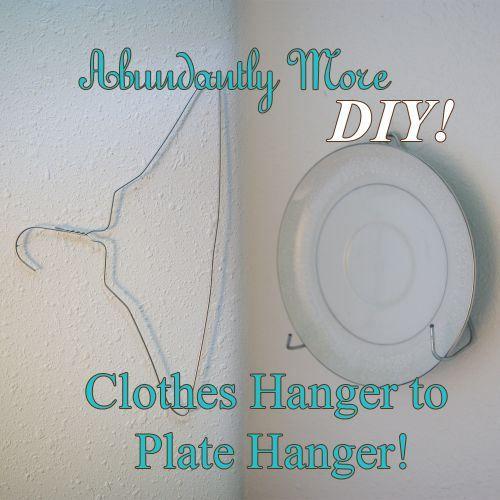 Diy Plate Hanger: 1000+ Ideas About Diy Clothes Hangers On Pinterest