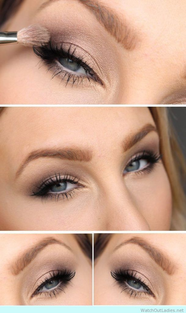 Beautiful make up tutorial for blue eyes -