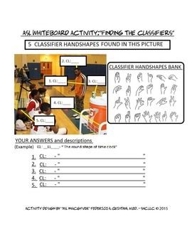 how to write asl classifiers lesson