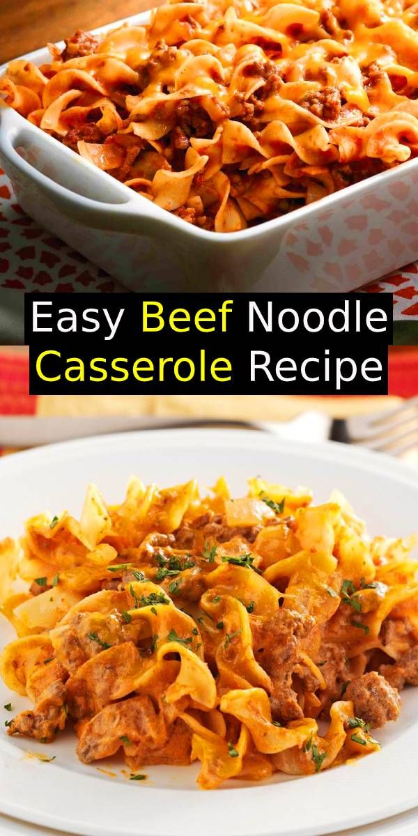 Easy Beef Noodle Casserole Recipe Hamburger Beef Noodles Casserole Dinner Easydinner Casserole Recipes Easy Casserole Recipes Ground Beef Recipes Easy