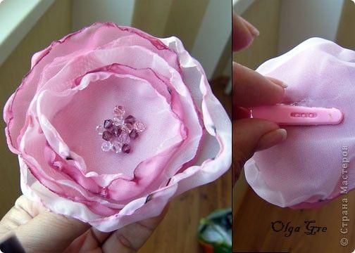 Как сделать цветы из шифона Моделирование