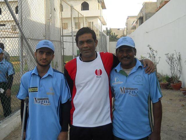 Former Pakistan Captain Mr. Rashid Latif with Disabled Players