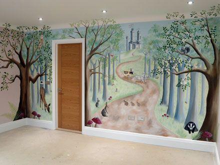 Best 25 girls fairy bedroom ideas on pinterest fairy for Fairy forest mural