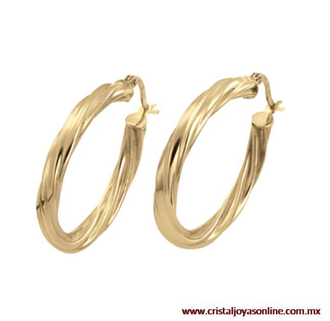 Lindas Arracadas oro amarillo 14k con un diseño clásico