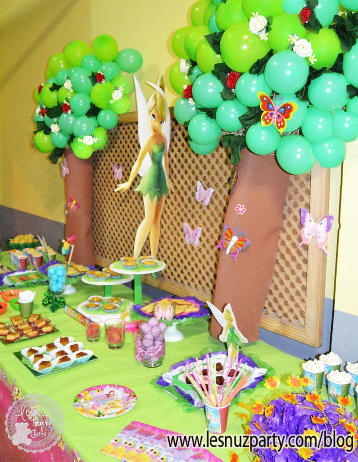 Campanilla un cumplea os de hadas decoraci n con globos - Decoracion con globos para cumpleanos ...