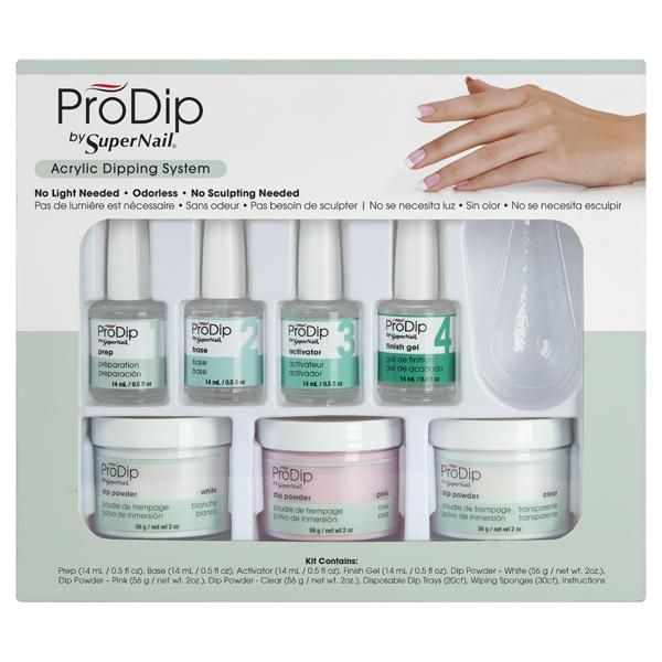 ProDip Starter Kit 7pcs | Products | Acrylic Nails, Starter kit, Dip ...