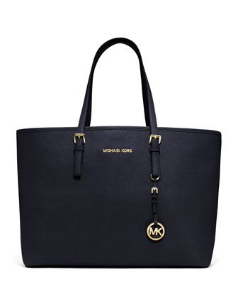 MICHAEL Michael Kors  Medium Jet Set Multifunction Saffiano Travel Tote.