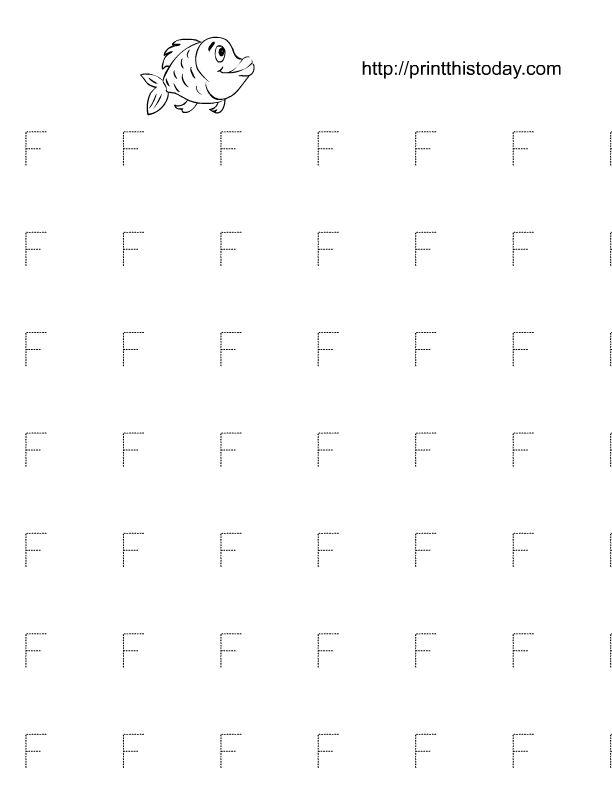 7 best letter trace images on Pinterest | Letter f, Preschool ...