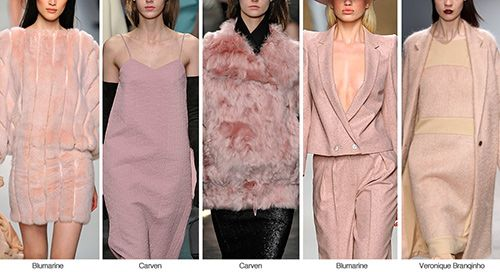 Varying shades of #pink from #mauve to #blush | Fall Winter 2014-15 Color Trends