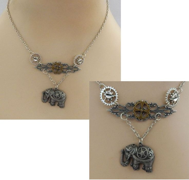Steampunk Elephant & Gears Pendant Necklace Handmade NEW Silver Adjustable #Handmade #Pendant http://www.ebay.com/itm/Steampunk-Elephant-amp-Gears-Pendant-Necklace-Handmade-NEW-Silver-Adjustable-/162421383979?ssPageName=STRK:MESE:IT