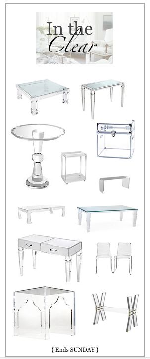 The most beautiful high quality acrylic furniture - I love every single piece