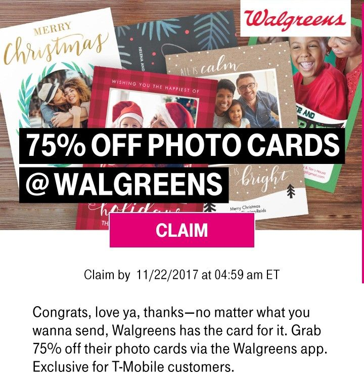 TMobile Tuesday aplication just for customers every Tuesday. Claim it at Walgreens with your aplication, and enjoy this gift exclusive for you.