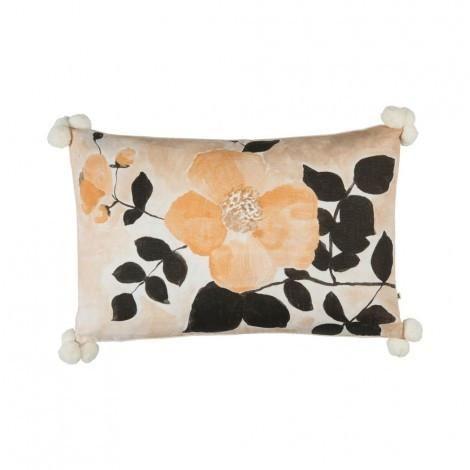 Tea Rose Sand Cushion | 75x45cm | Bonnie & Neil – Salt Living or online at www.saltliving.com.ay #saltliving #bonnieandneil #screenprinting #linen #handmade #cushion