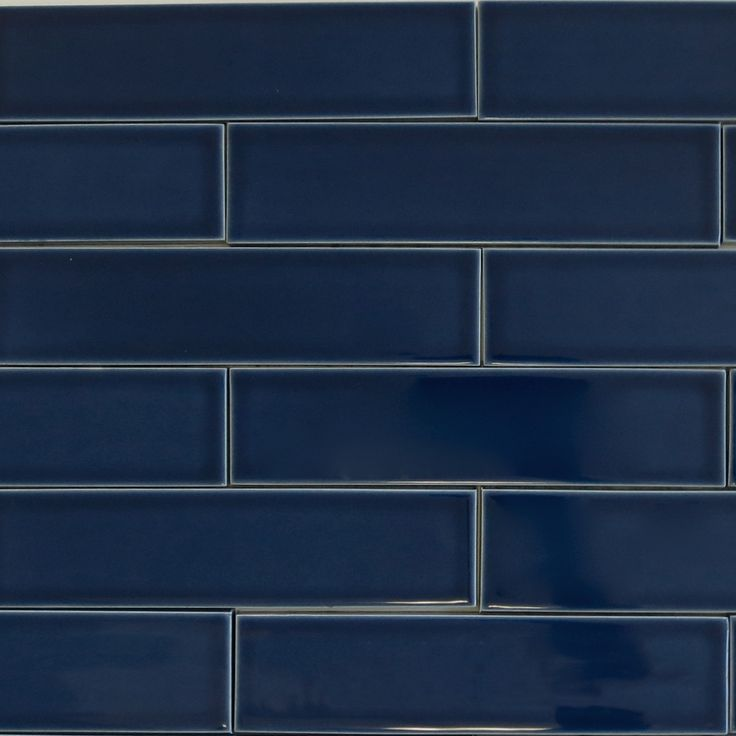 Buy Bathroom Tiles: Kiln Ceramic 2x8 Caspian Blue