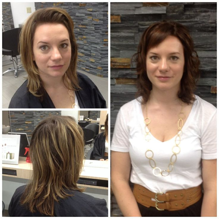 #beforeandafter #aveda hair colour done by senior colourist Lynsee at salon blunt !  #haircut done by senior stylist Lori!