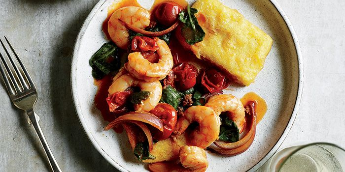 Anatomy of a Classic: Shrimp with Fried Polenta Cakes   Garden and Gun