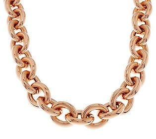Bronzo Italia 20 Status Rolo Link Necklace with Magnetic Clasp