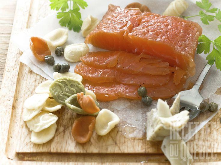 Gravlax de saumon miel et moutarde #recettesduqc #entree #saumon