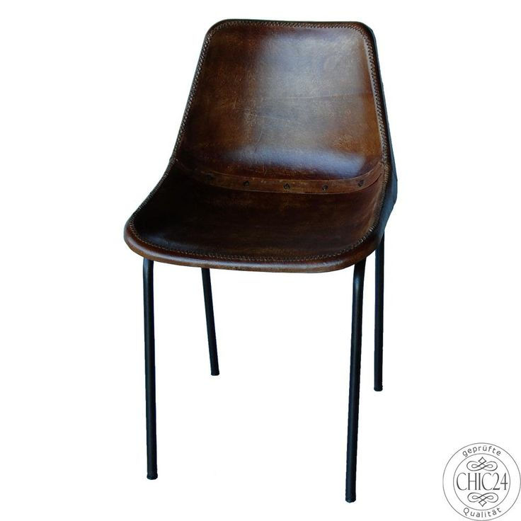 Stuhl Leder antikbraun - chic24 - Vintage Möbel und Industriedesign Lampen…