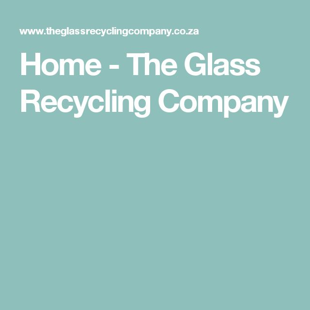 Home - The Glass Recycling Company