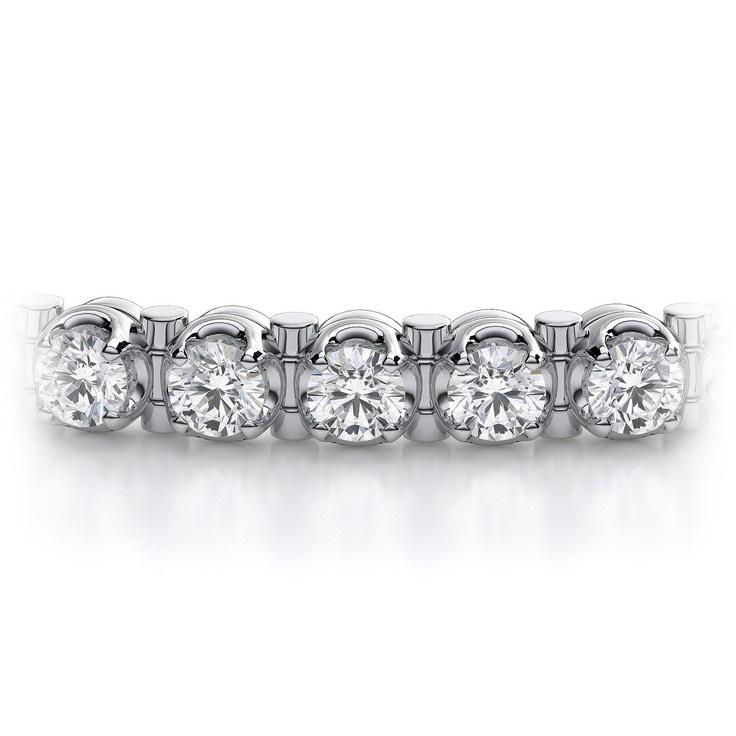 Diamond Tennis Bracelet in 14k White Gold.