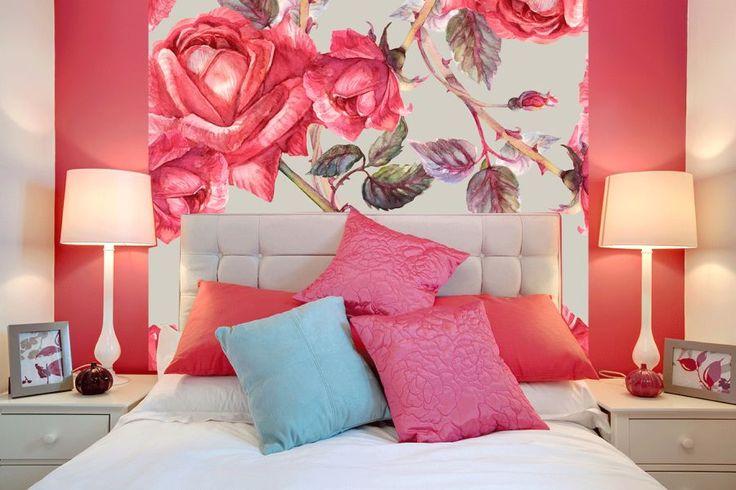 Obraz z pastelowymi różami nad łóżkiem http://ecoformat.com.pl/fototapety-z-kwiatami-roza-w-roli-glownej/