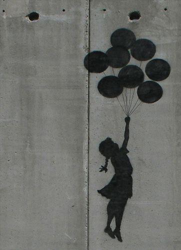 Balloon Girl Art Print by Street Art Easyart.com