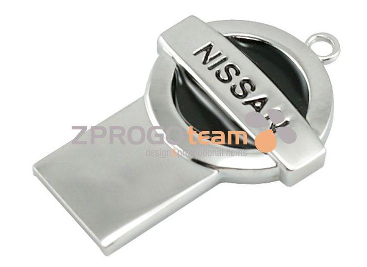 NEW: Promotional metal mini USB flash drive NISSAN.