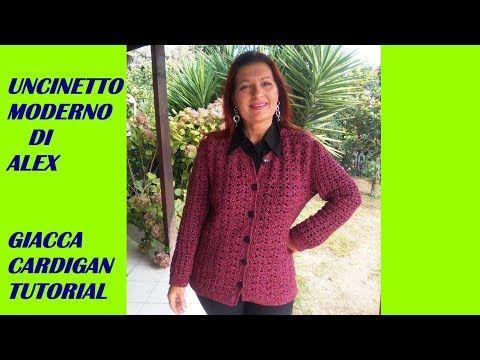 Crochet Cardigan Jacket Fashion Any Size Tutorial Youtube Sueter