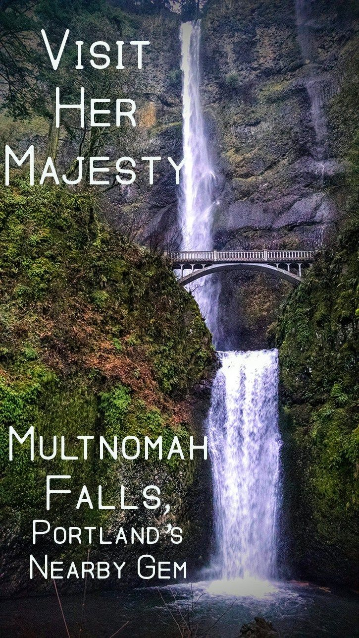 Multnomah Falls, Portland, Oregon's Nearby Gem. She's a siren designed to pull you off the highway. Travel in the USA.