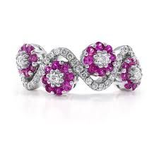 diamond solitaire pink sapphires - Google Search