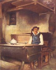 FINISTÈRE BRETAGNE BRETAGNE.  Dans une auberge, Pont-Aven 1905 ancienne gravure ancienne