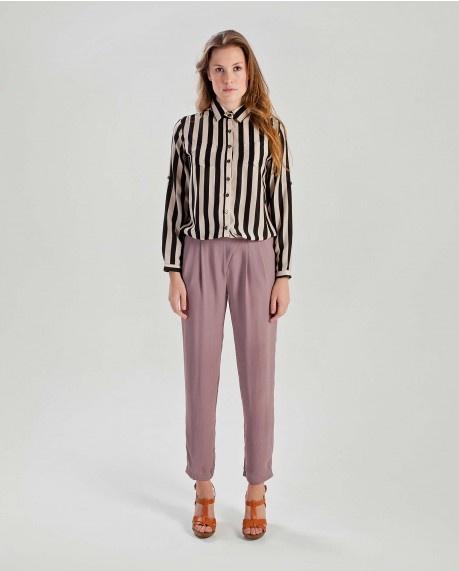 Stripe roll up sleeve shirt $57.50